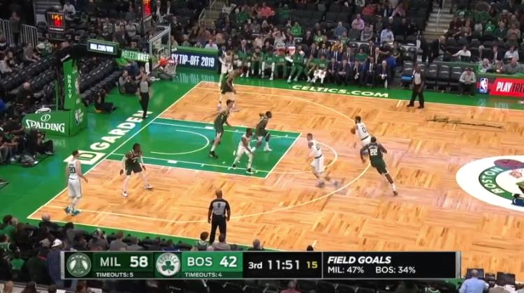 Play of the day: Stack Out dei Boston Celtics